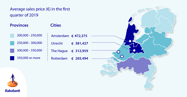 Figure 1: Amsterdam twice as expensive than Drenthe