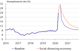 Figure 3: Unemployment is expected to exceed 30%