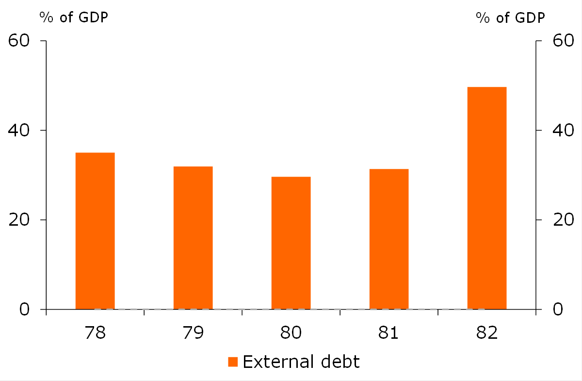 Figure 2: External debt burden
