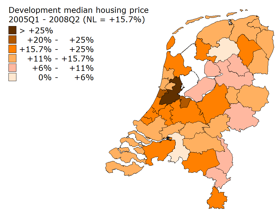Figure 30: House price development in the run-up to the crisis