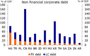 Figure 3: The level of FX non-financial corporate debt is modest