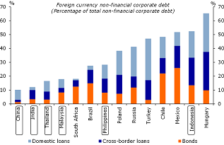 Figure 13: Asian corporates have relatively low FX debt levels