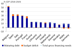 Figure 3: Italy's gross financing needs are already very large